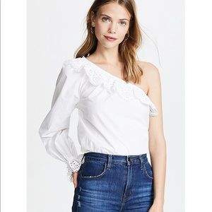 NEW • Joie • Arianthe One Shoulder Blouse White Sm
